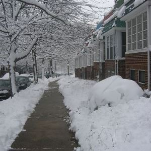 Sidewalk Cleared of Snow