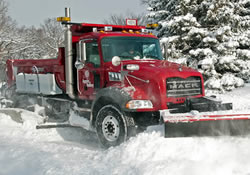 Snow plow in snow